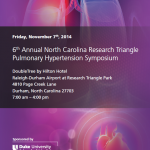 6th Annual NC Research Triangle Pulmonary Hypertension Symposium to be Held on November 7 in Durham