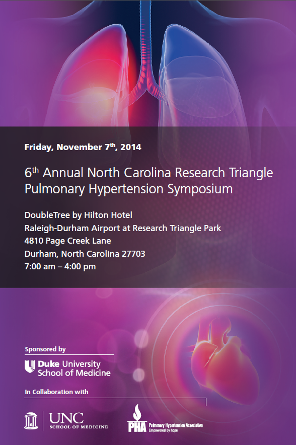 6th Annual North Carolina Research Triangle Pulmonary Hypertension Symposium