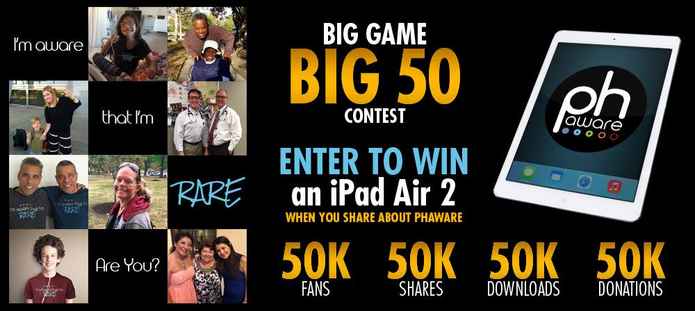 Phaware Teams with Super Bowl 50 for 2016 PH Awareness Contest