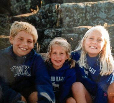 traveling with PH   Pulmonary Hypertension News   Anna poses with her siblings, who are all smiling, when they were children
